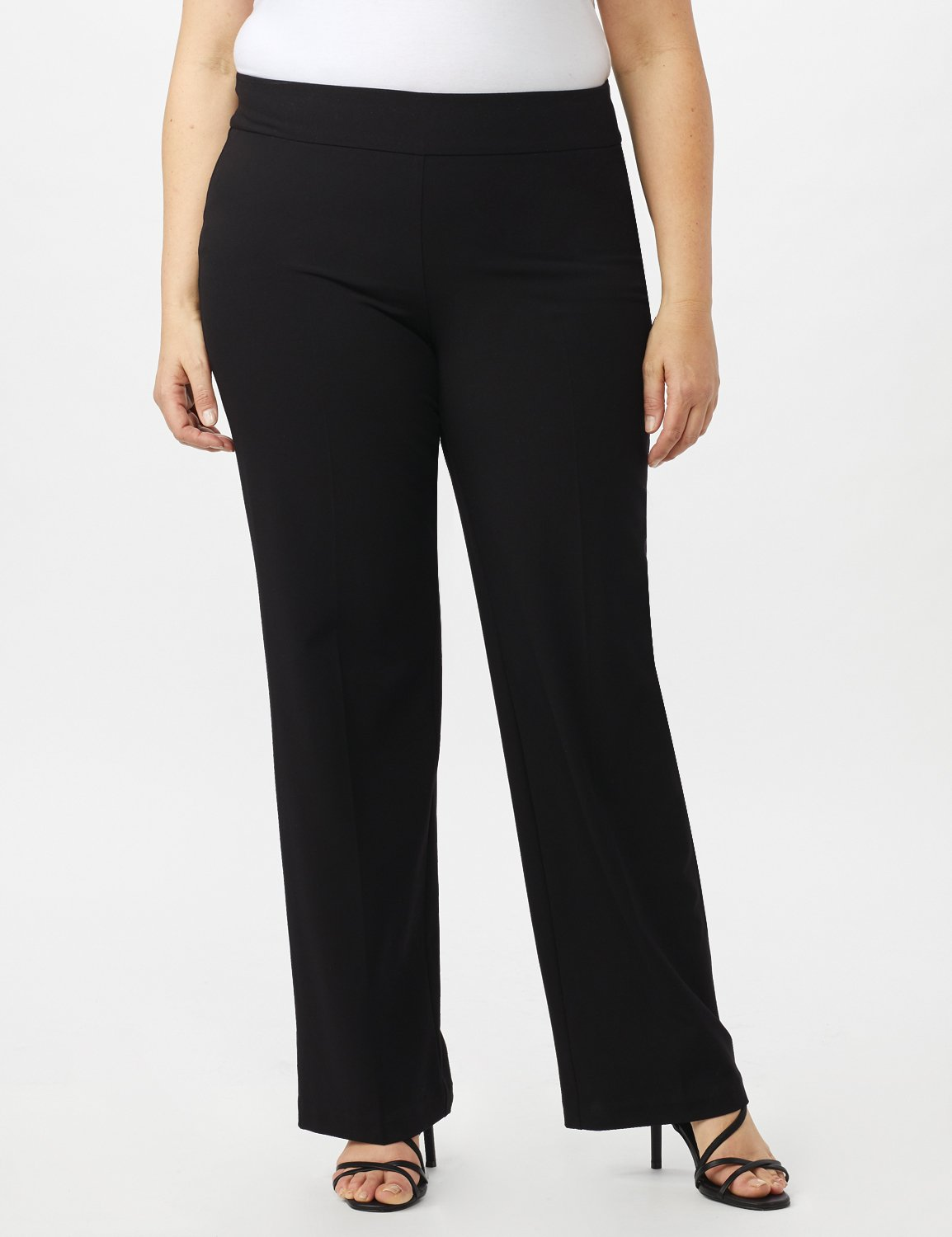 Secret Agent Tummy Control Pull On Pants - Average Length -Black - Front