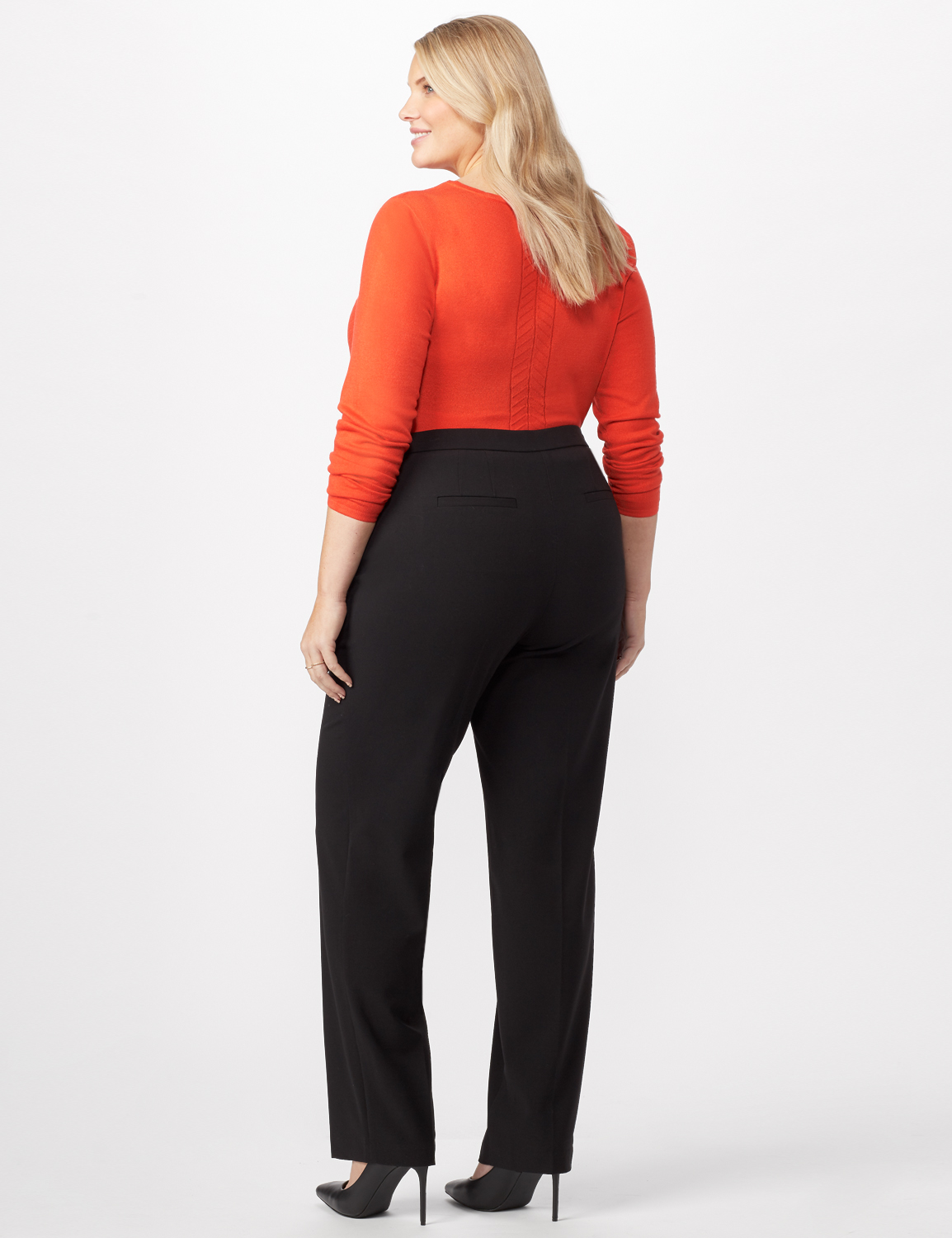 *PRE-SALE* Secret Agent Trouser with Cateye Pocket and Zipper -Black - Back