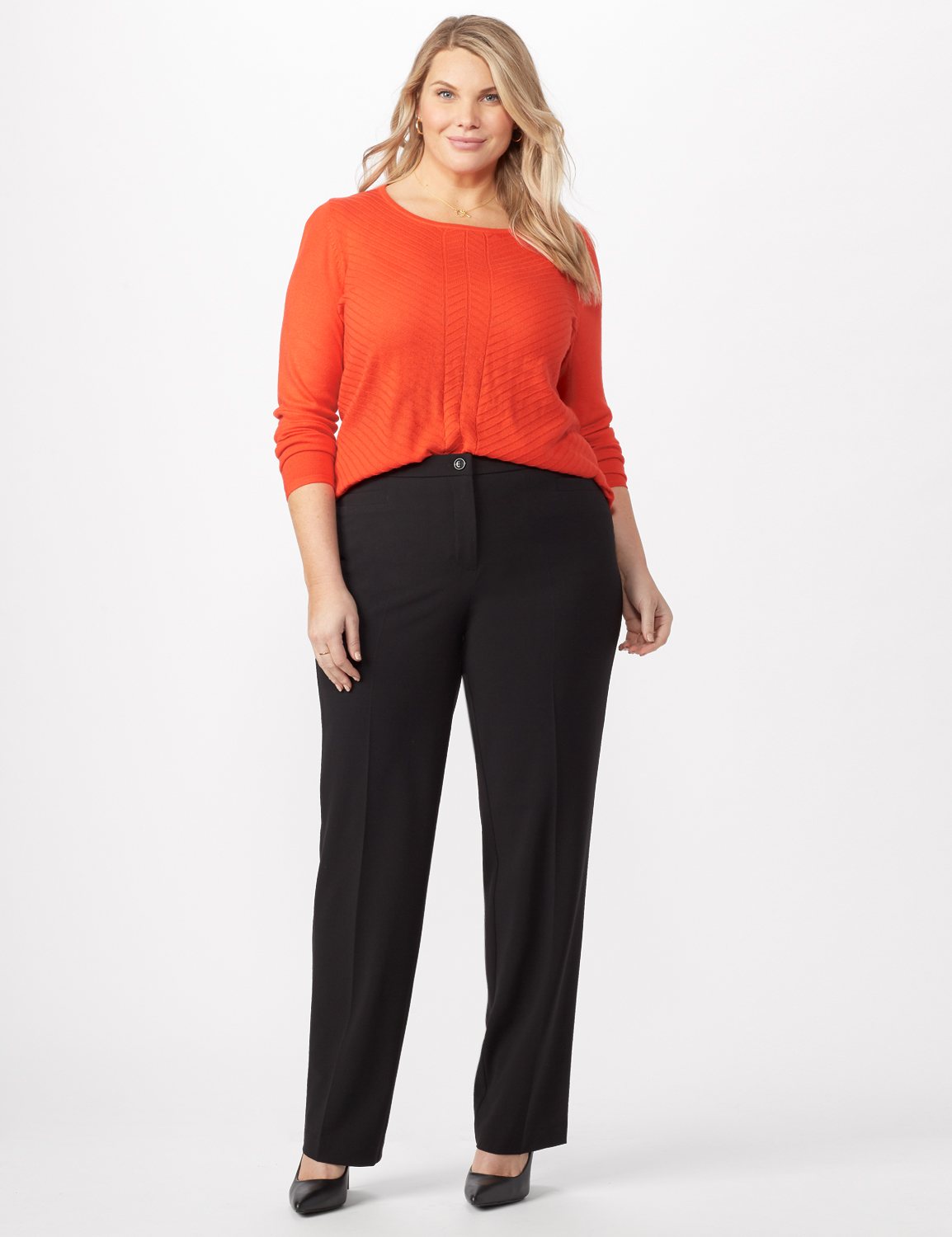 *PRE-SALE* Secret Agent Trouser with Cateye Pocket and Zipper -Black - Front