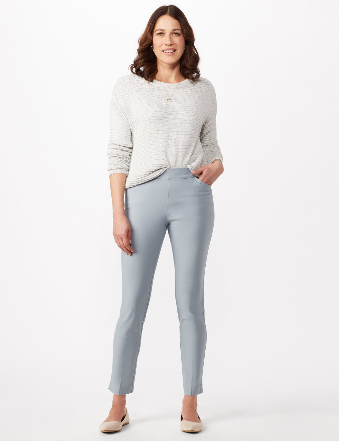 Superstretch Luxe Pull On Pants -Antique Blue - Front