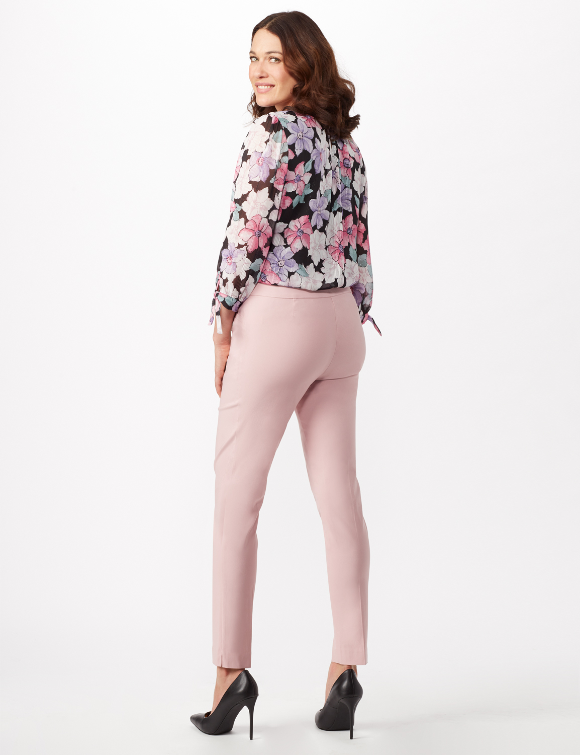 Superstretch Luxe Pull On Pants -Pink - Front