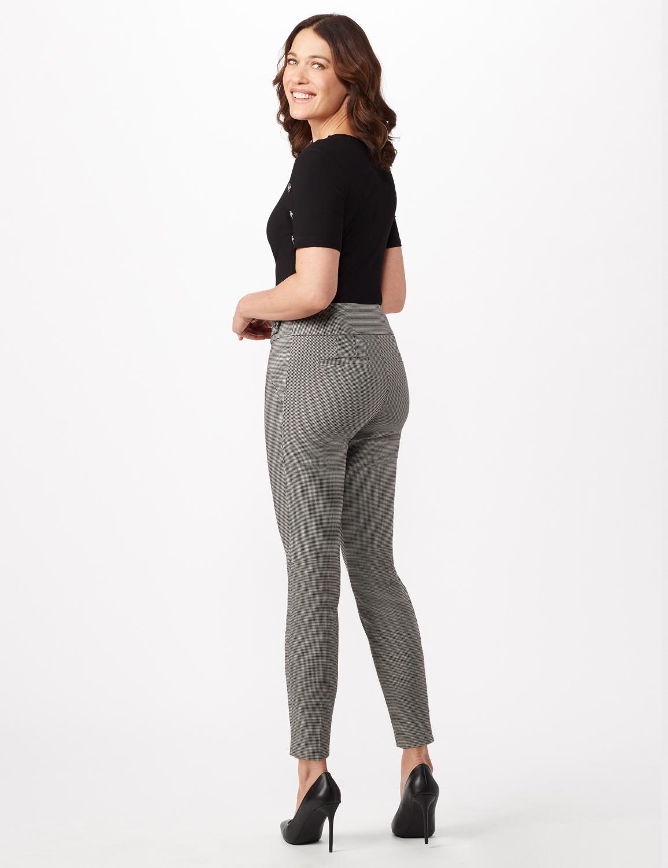 Black - Olive Plaid Pull On Pants -Black/olive - Back