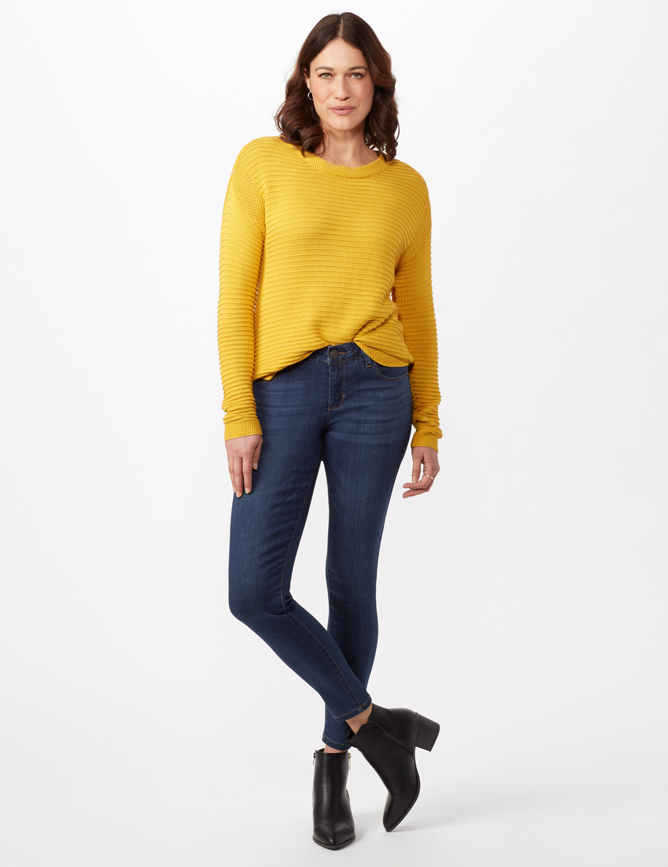 5 Pocket Goddess Fit Jeans -Rinse Wash - Front
