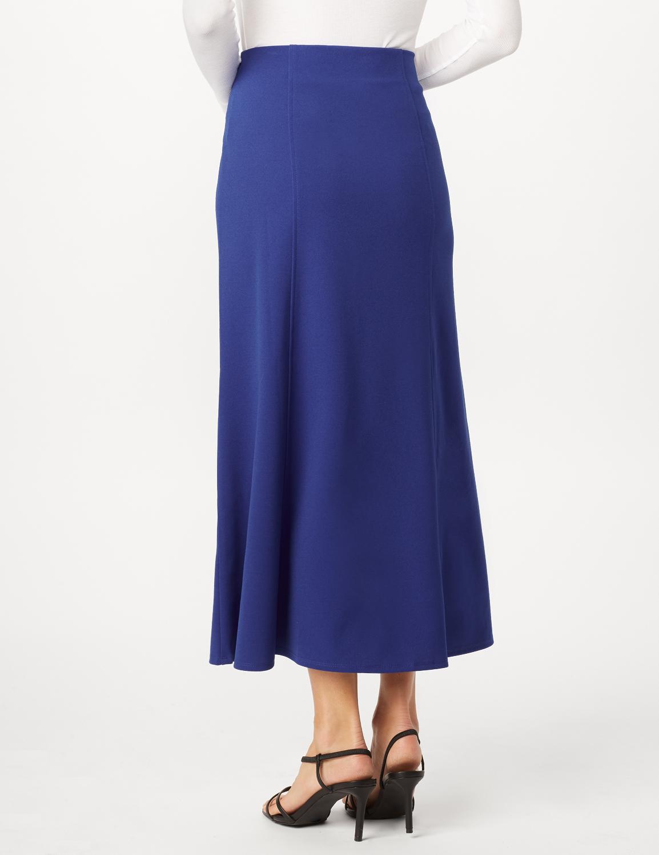 Long Flippy Skirt -Royal - Back