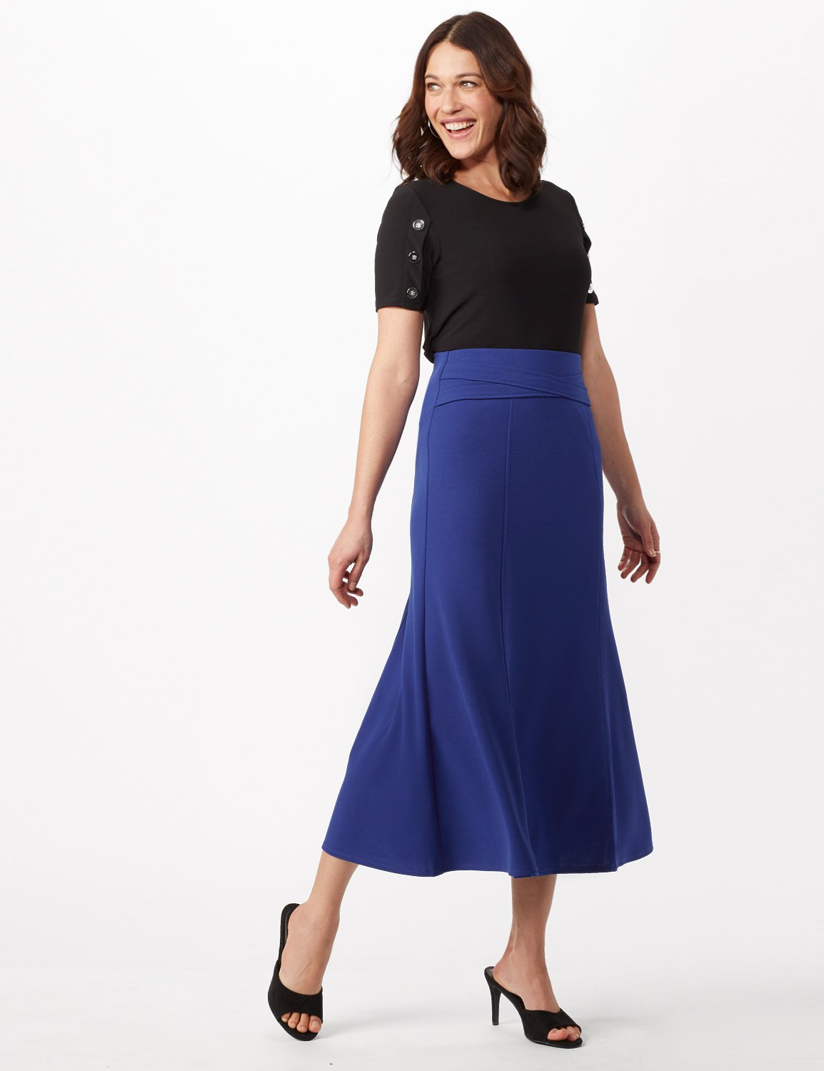 Long Flippy Skirt -Royal - Front