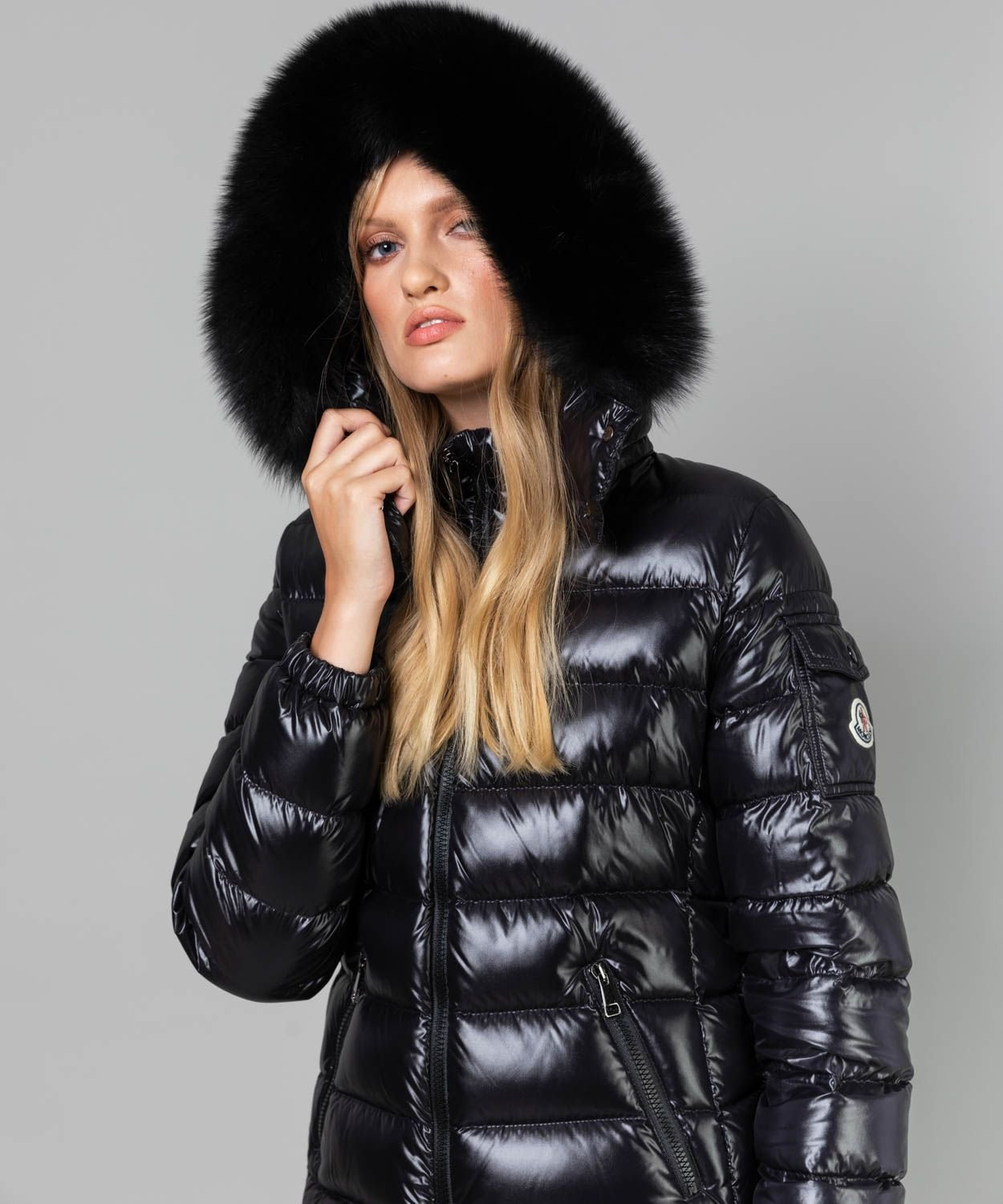Women's Hooded Fur Badyfur Jacket