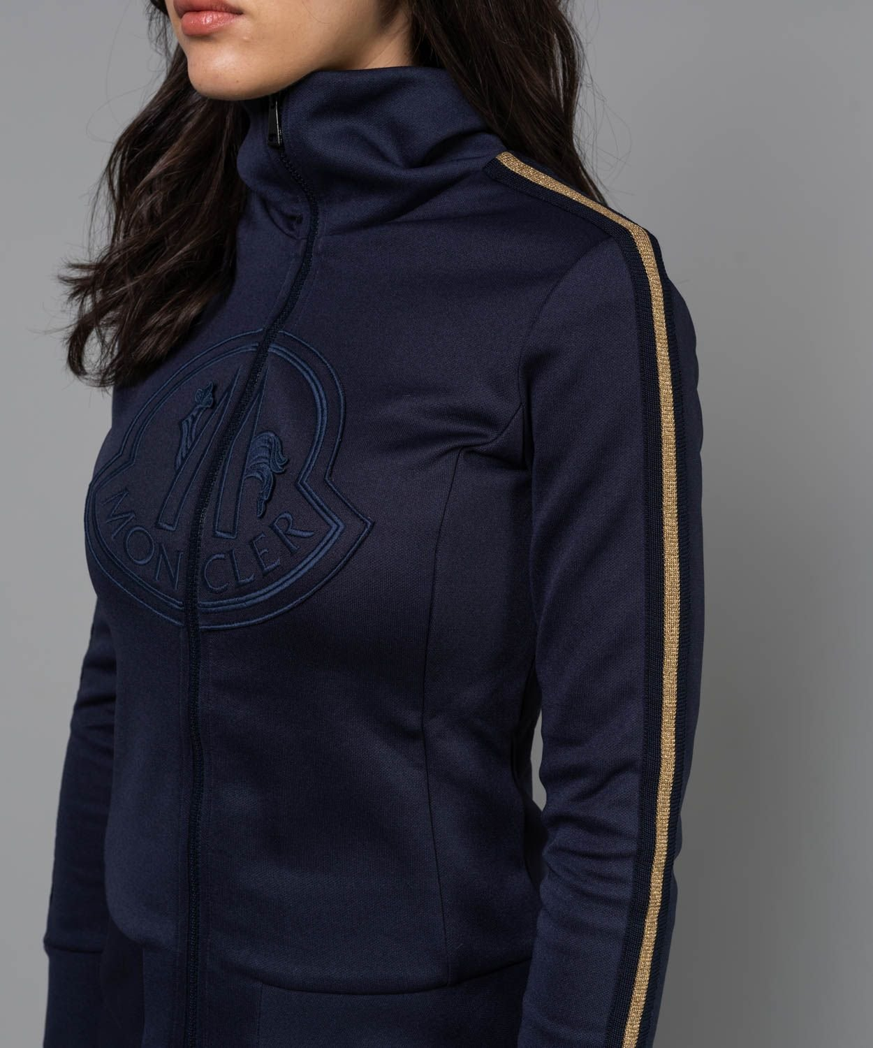 Women's Logo Gold Stripe Tech Cardigan