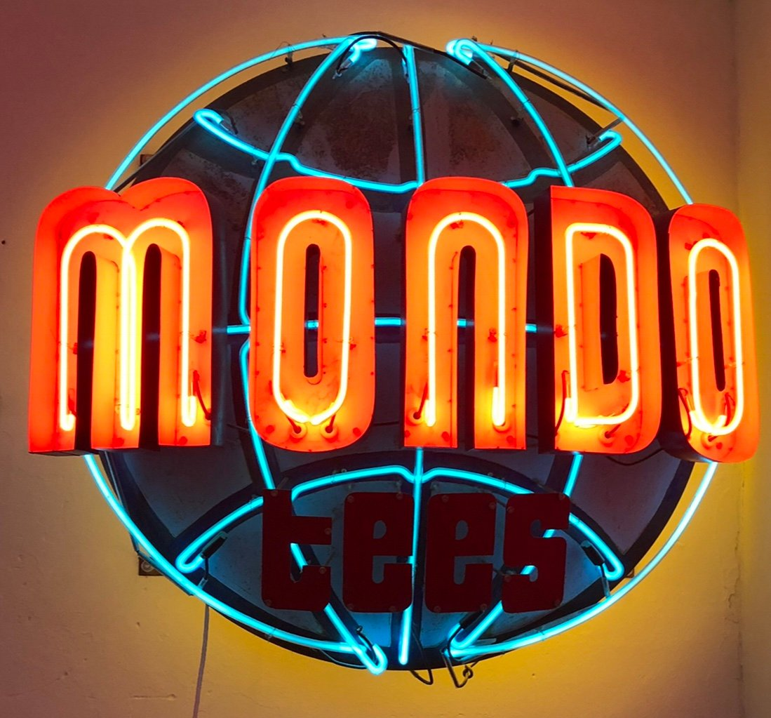 The first neon sign for Mondo