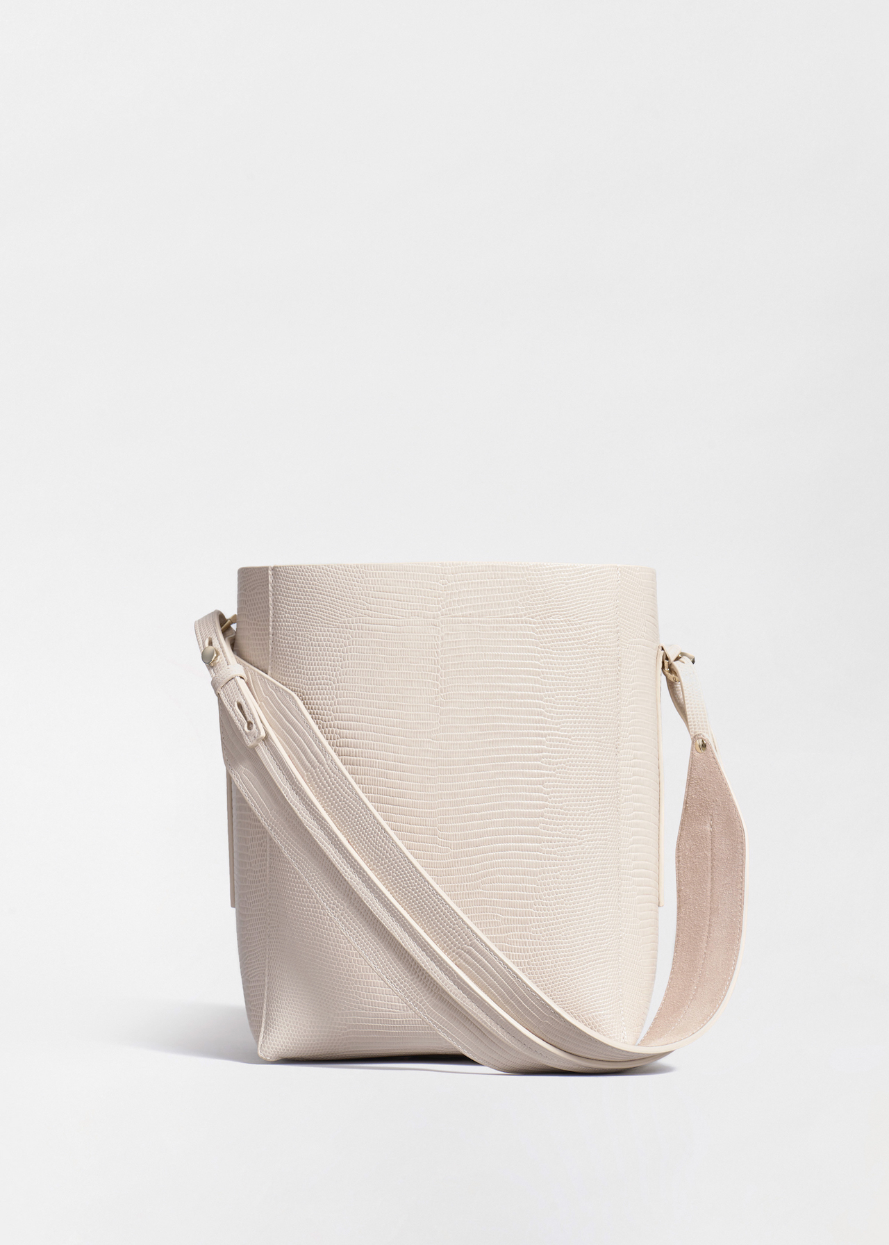 Small Bucket Bag in Embossed Leather - Sand - Co Collections