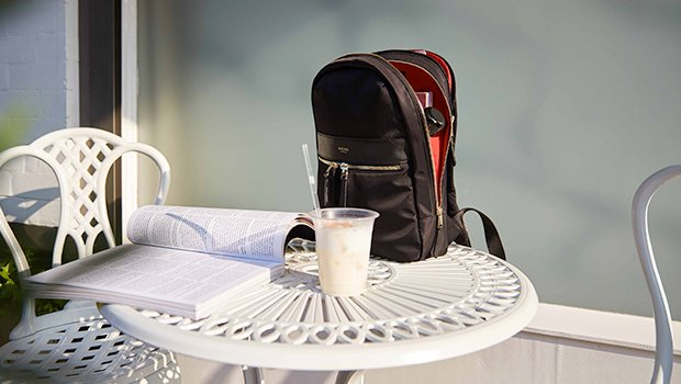 "KNOMO Mini Beaufort Backpack 12"" Lifestyle Image 