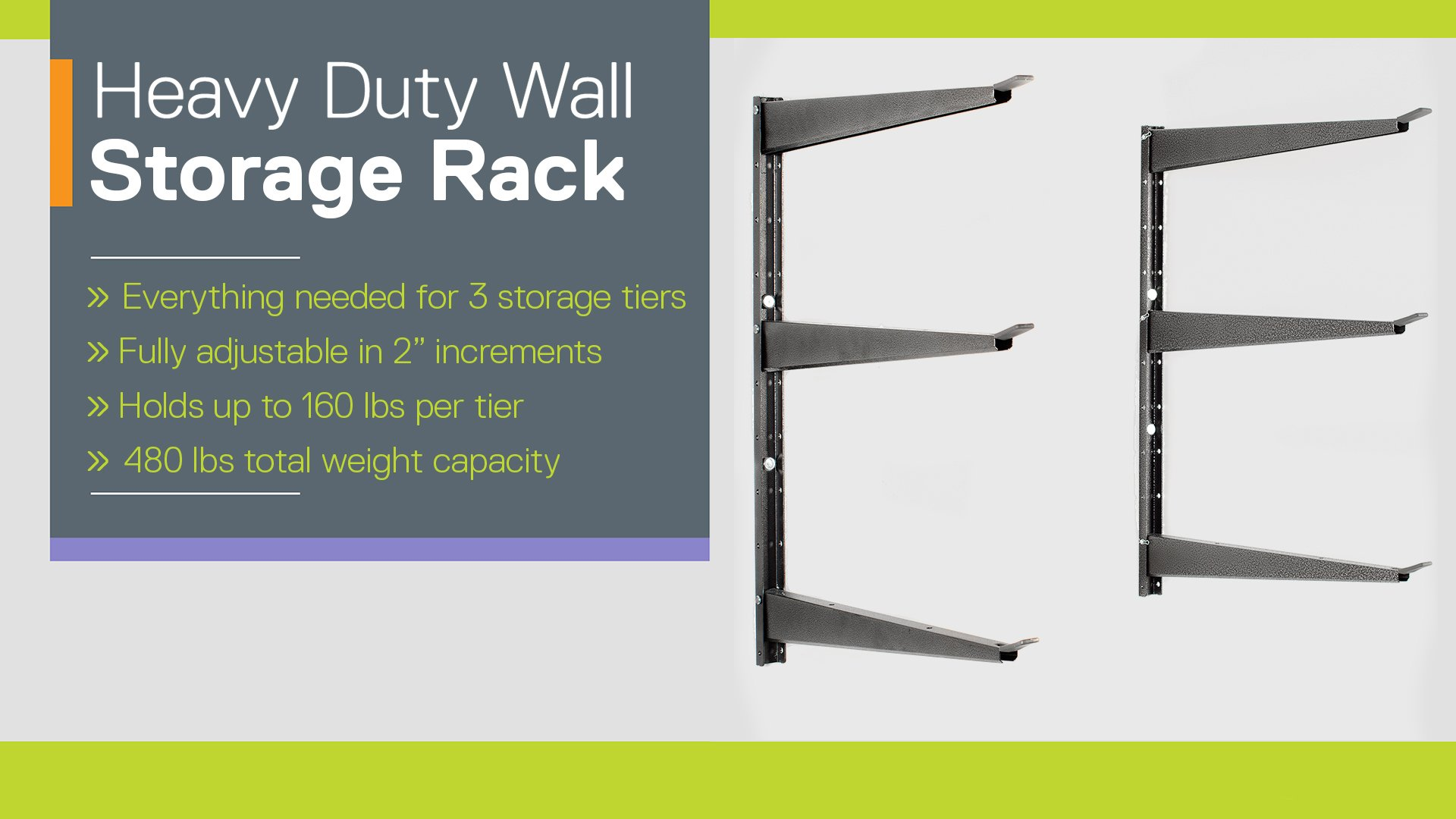 Heavy Duty Wall Storage Rack instructions