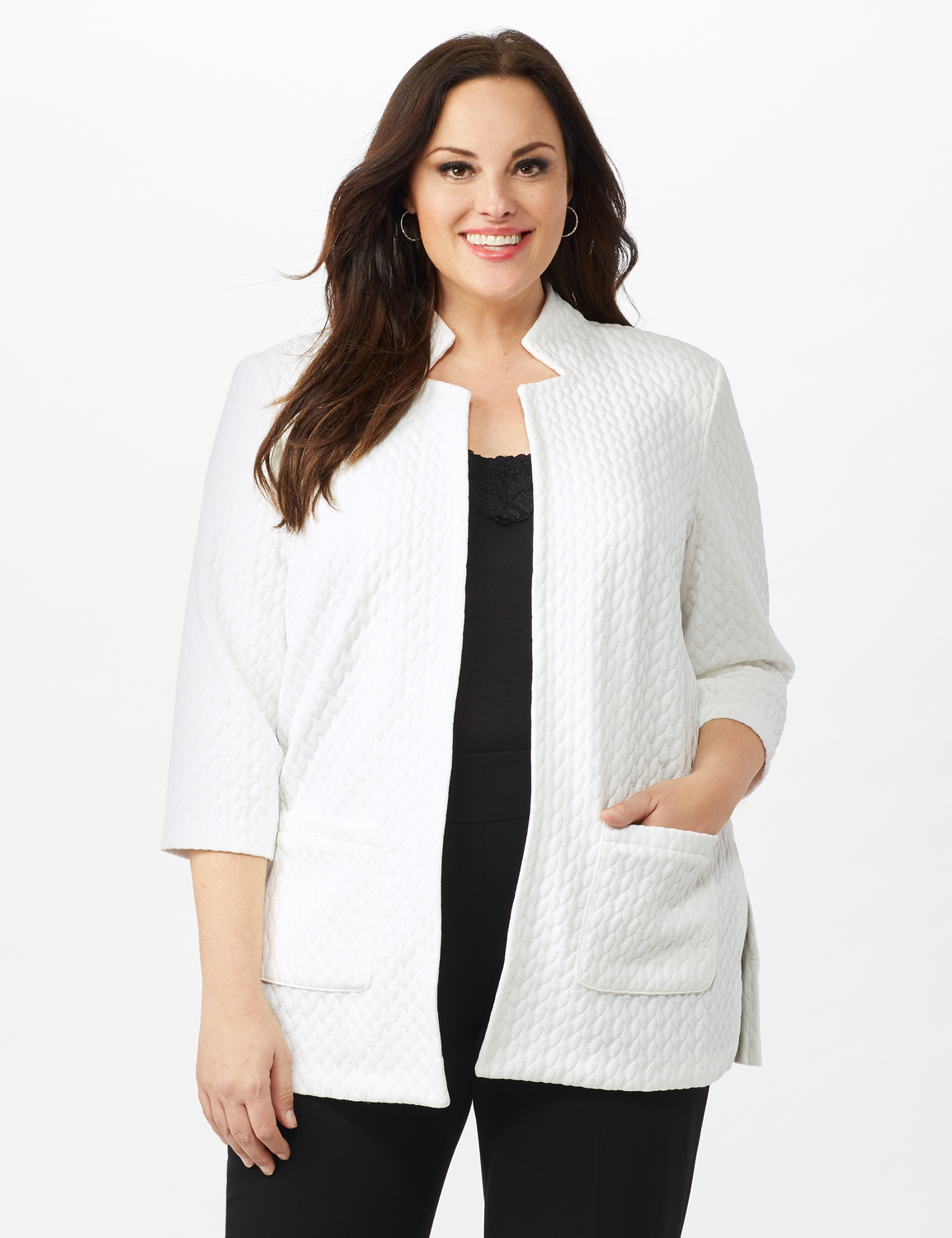 Quilted Jacquard Topper - Plus -Sugar Swizzle - Front