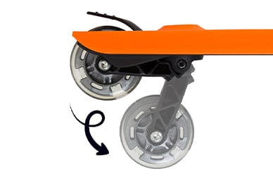 patented innovation to go from buggy board to scooter fun in seconds