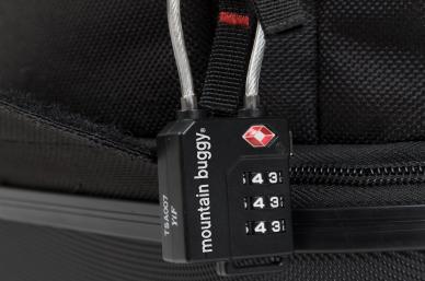 included TSA approved padlock