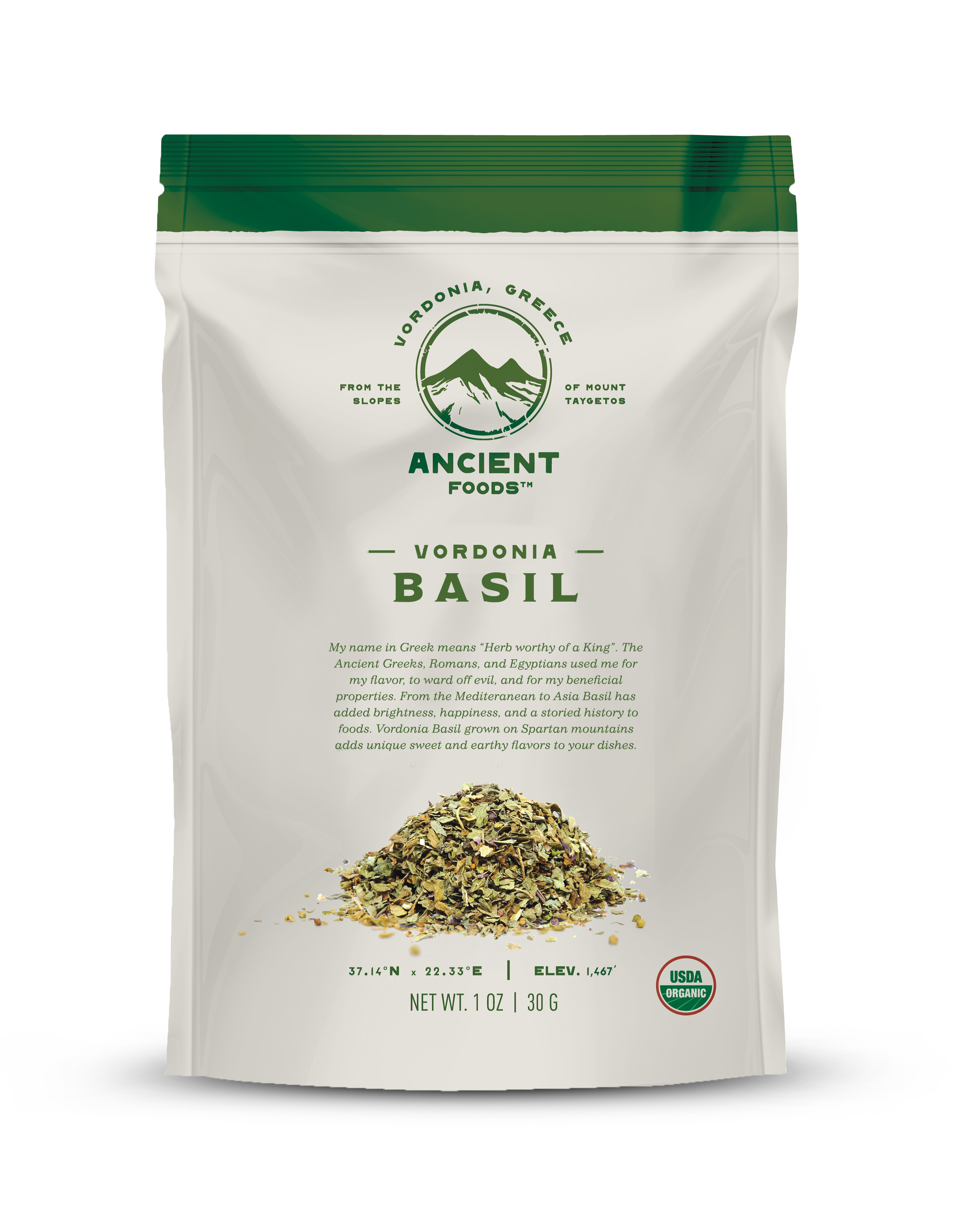 Organic Basil Herb, Vordonia Greece