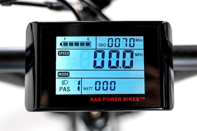 Rad Power Bikes LCD display