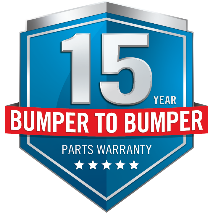 15 Year bumper to bumper Warranty