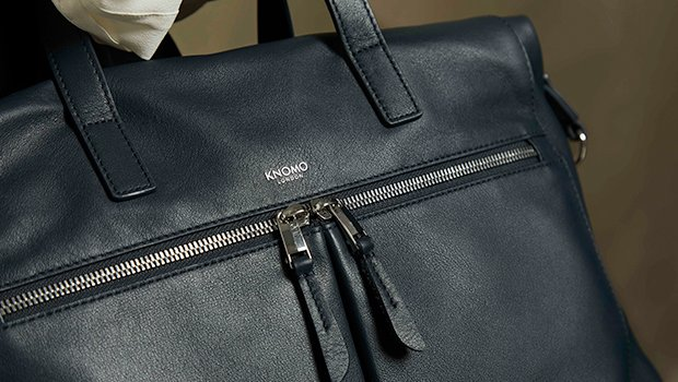 "KNOMO Audley Leather Laptop Handbag - 14"" Lifestyle Image 