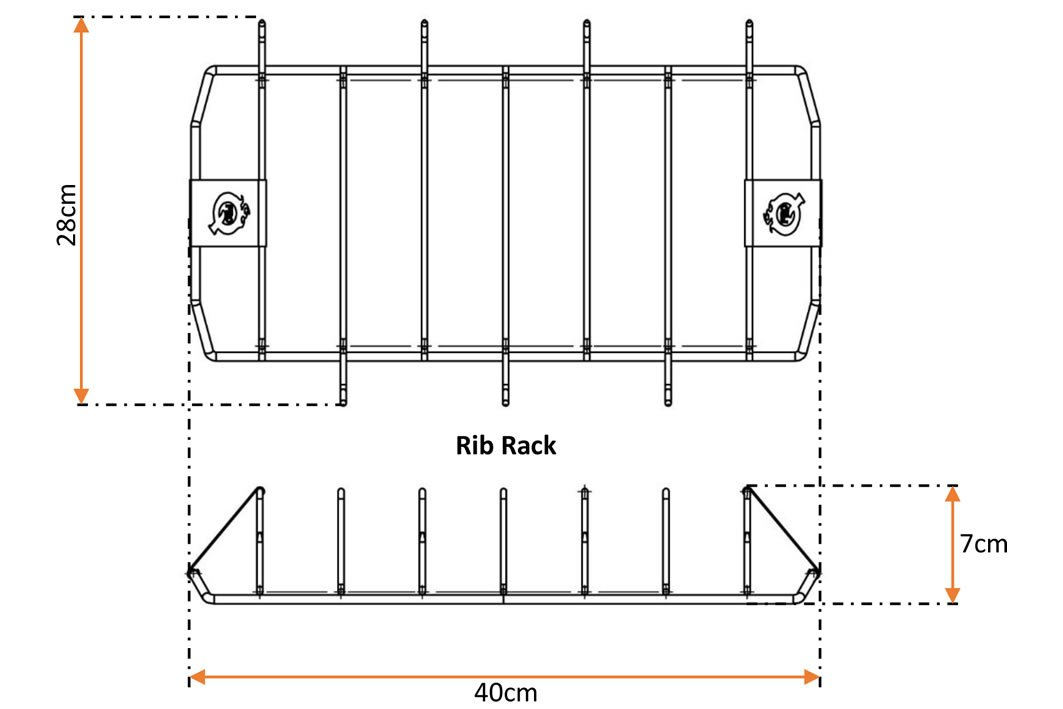 ProQ Rib and Roast Rack - Technical Specification
