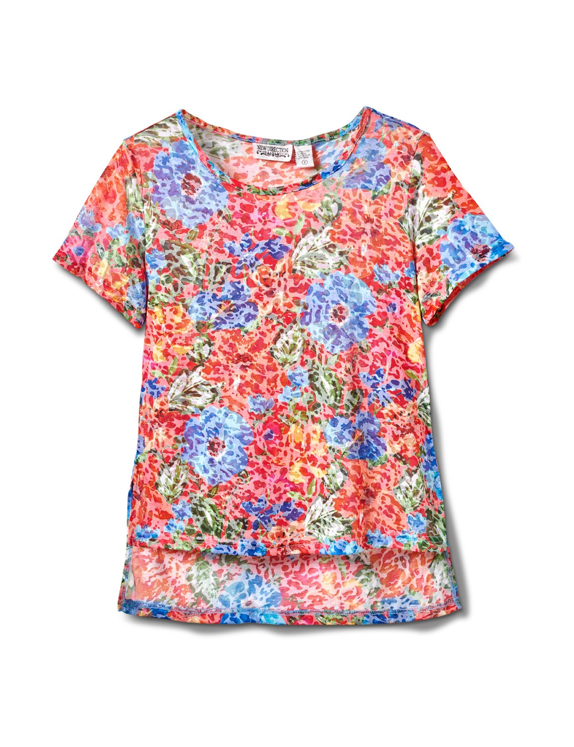 Floral Texture Knit Tee -Multi - Front