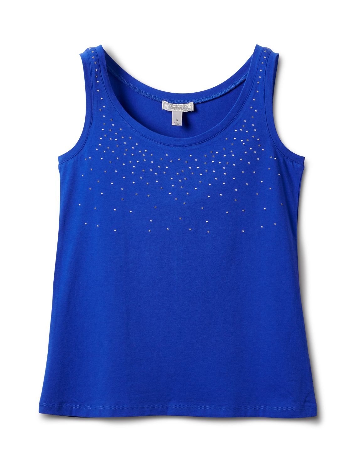 Studded Knit Tank -Royal Blue - Front