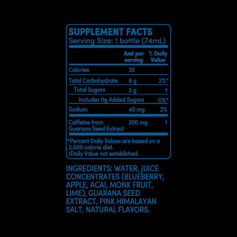 GO BIG acai blueberry supplement facts
