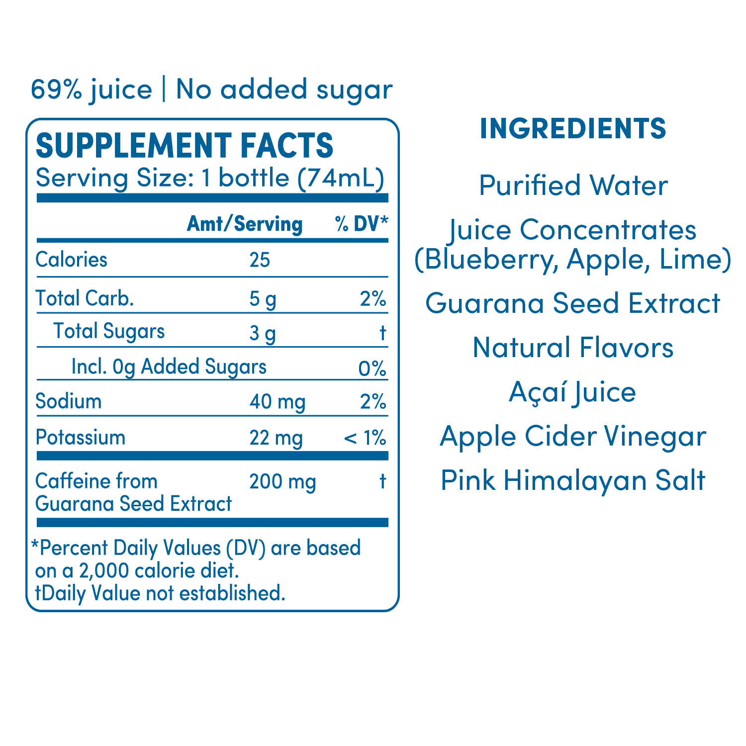 GO BIG acai blueberry supplement facts