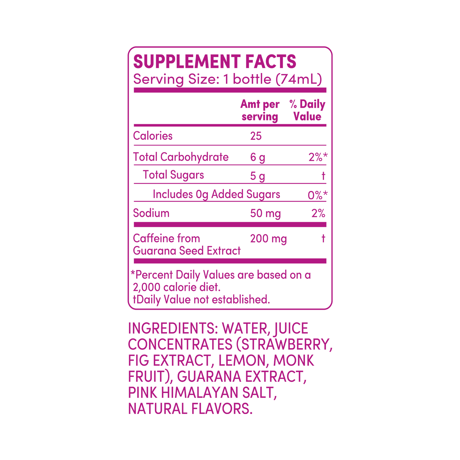 GO BIG strawberry fig supplement facts