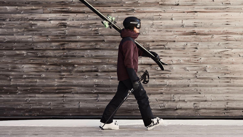 Men's Maroon Gore-Tex Ski Pants