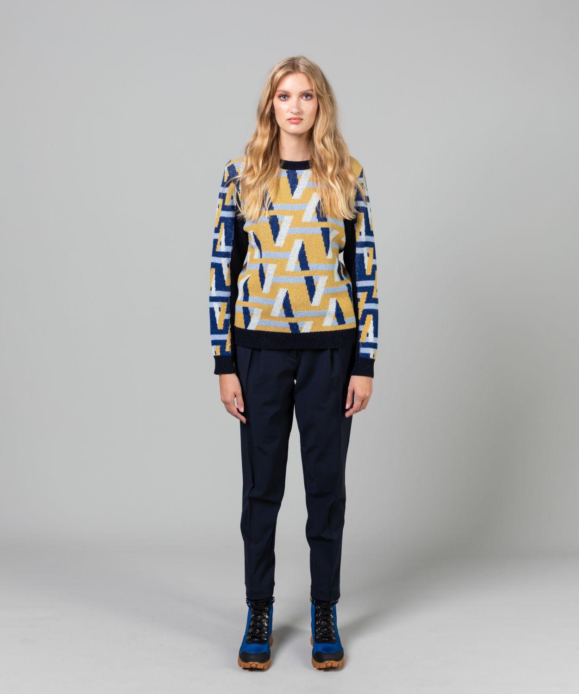Women's Jaquard Crew Knit Sale