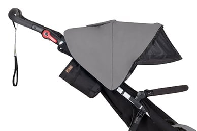 pull out sun mesh visor for additional protection