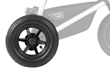 """10"""" air filled tyres, for a true all terrain, 3-wheel performance"""