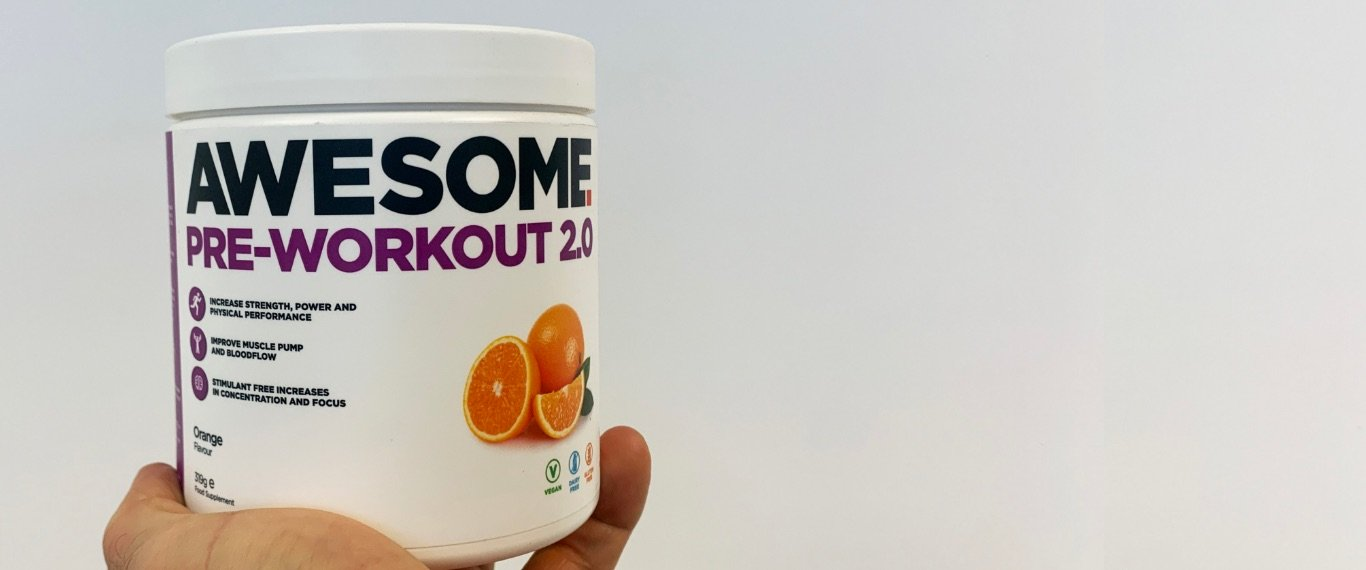 Awesome Pre-Workout 2.0 - Sample hero banner