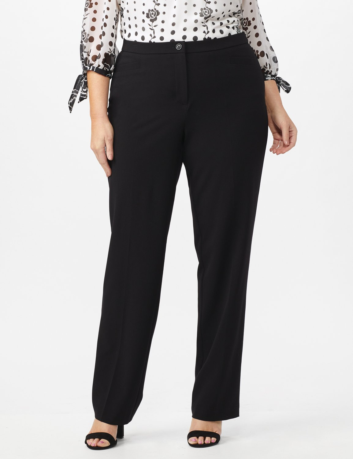 Secret Agent Pants with Cat Eye Pockets & Zip -Black - Front