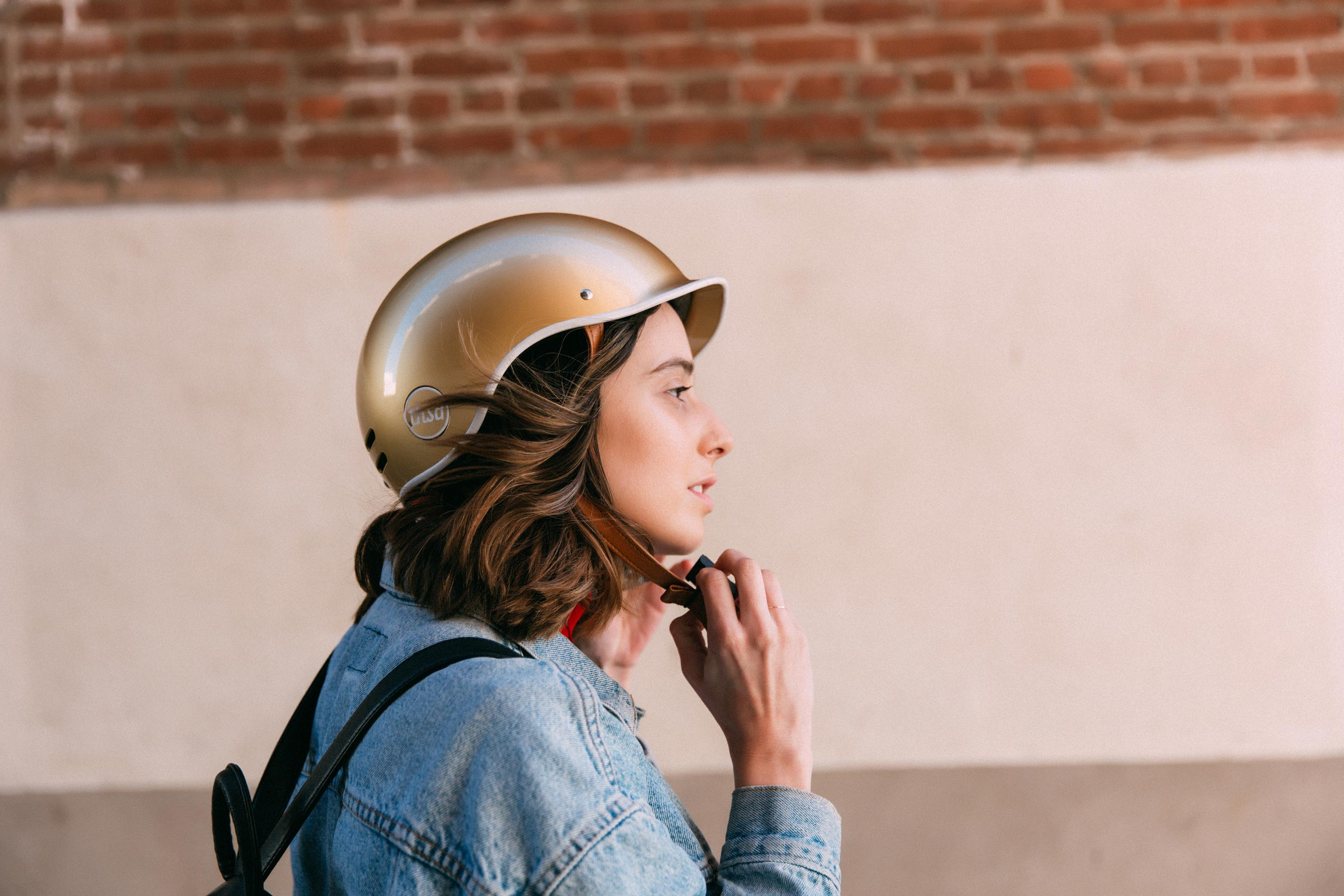 Heritage Bike Helmet, Stay Gold
