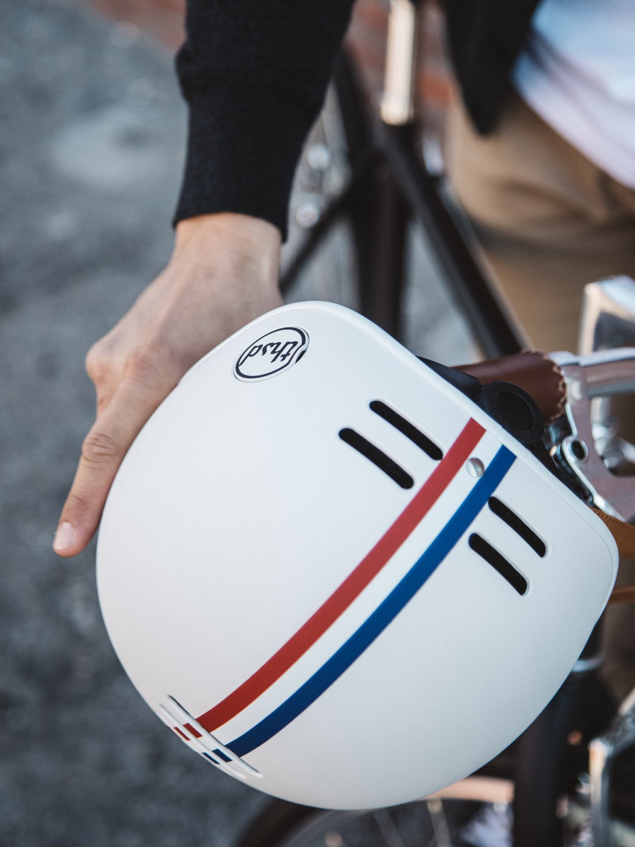 Heritage Bike Helmet, Speedway Creme