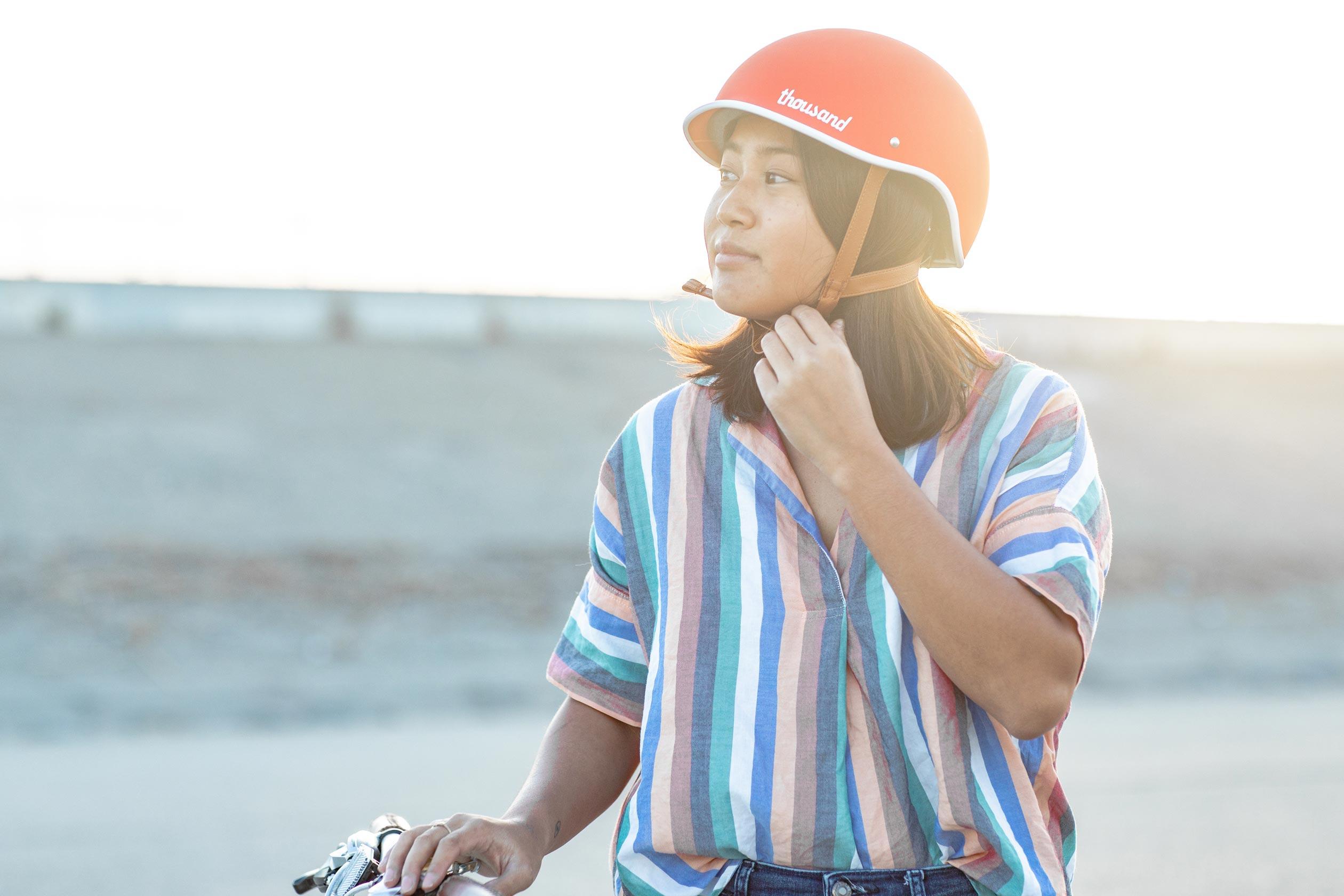 Heritage Bike Helmet, Daybreak Red