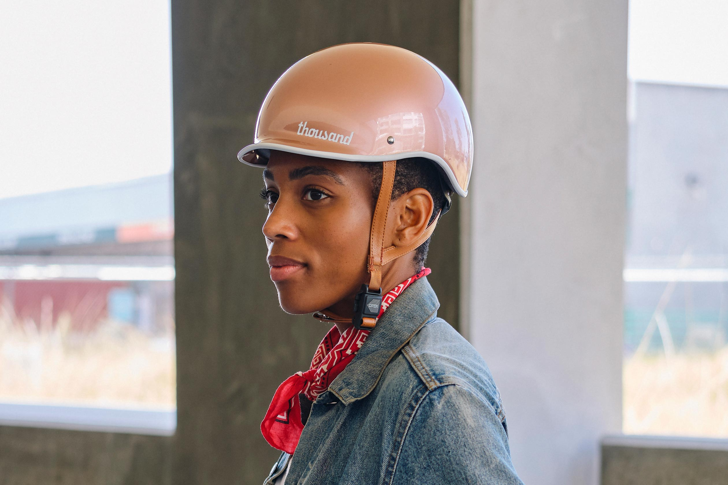 Heritage Bike Helmet, Rose Gold