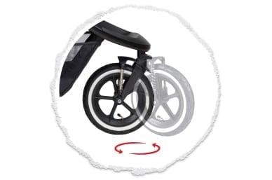 Rücklaufsperre oder 360° voll schwenkbares Vorderrad
