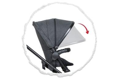 expansive UPF50+ sun hood protection