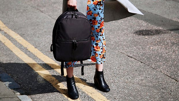 "KNOMO Berlin Laptop Backpack - 15"" Lifestyle Image  knomo.com"