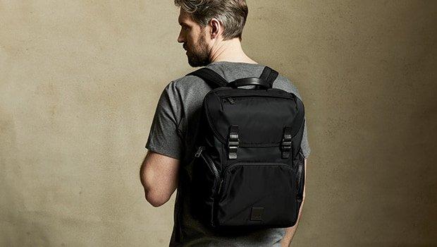 "KNOMO Thurloe Backpack 15"" Lifestyle Image  knomo.com"