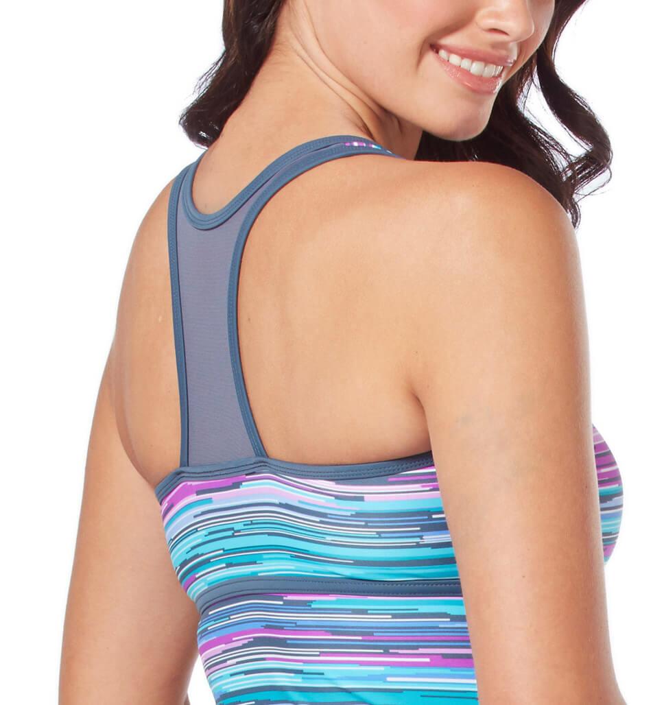 Women's Sunlight Zip Front Racerback Tankini Top