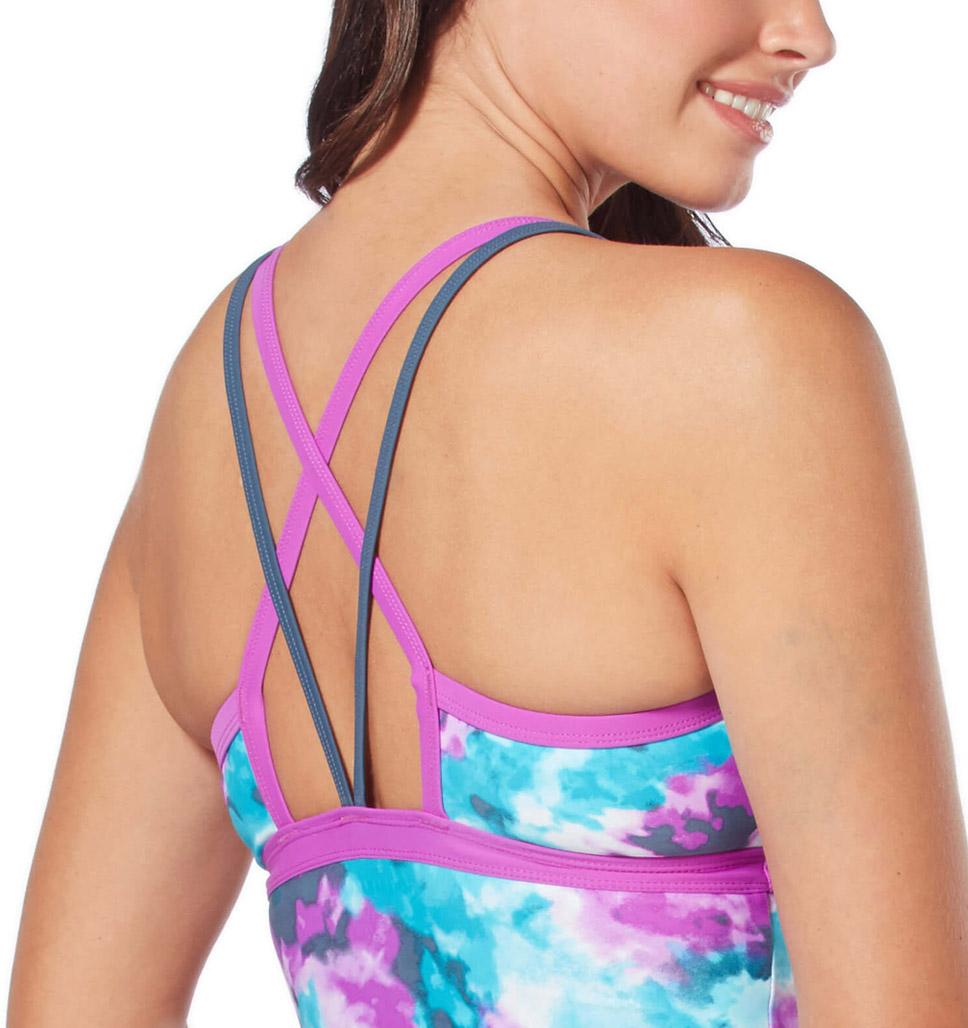 Women's Tiki Tie Dye Sporty Strap Tankini Top
