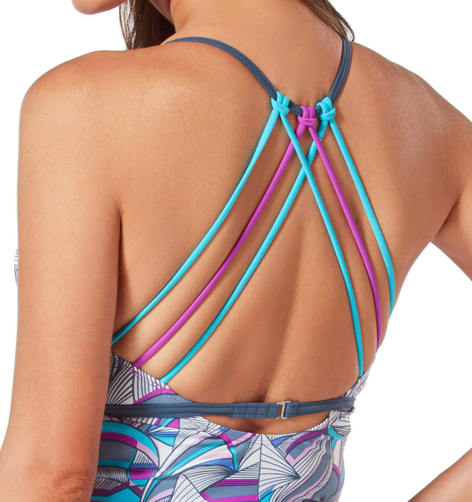 Women's Lanai Leaf Triple Strap Tankini Top