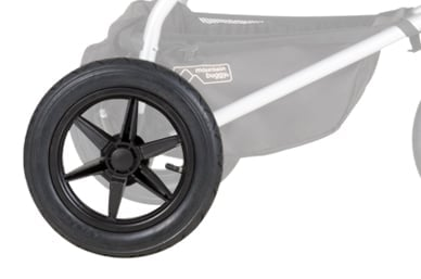 """12"""" air filled tyres, for a true all terrain, 3-wheel performance"""