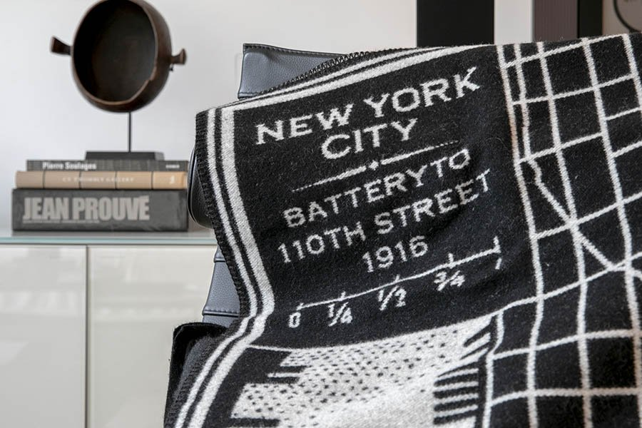 image of Vintage City Map Wool Throws