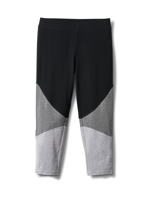 Color Block Knit Capri - Misses -Grey/Black - Front