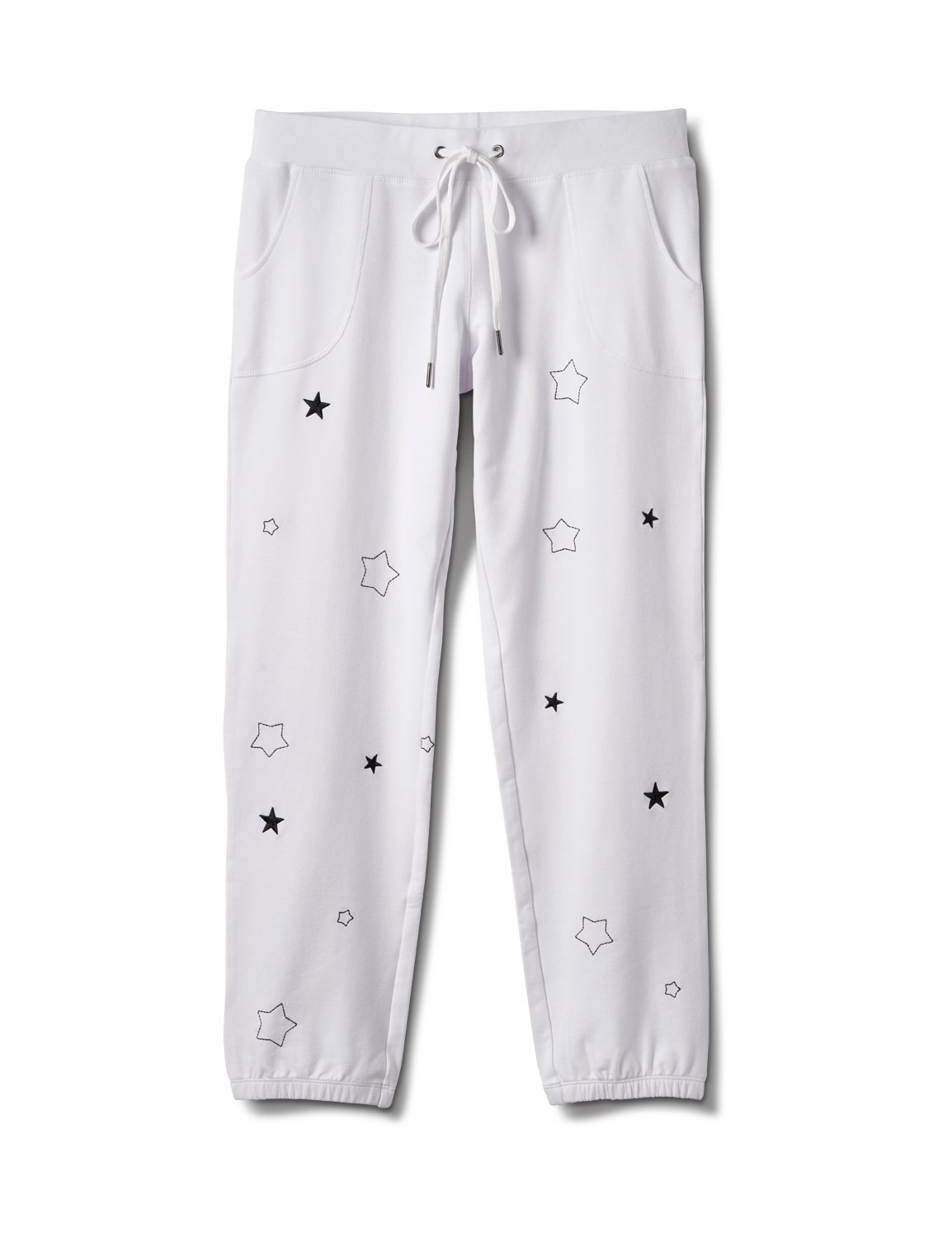 Embroidered Star Knit Pant - Misses -White - Front