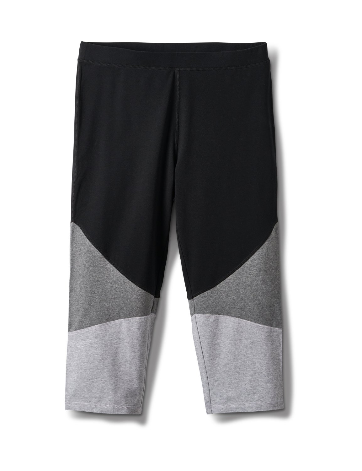 Color Block Knit Capri -Grey/Black - Front